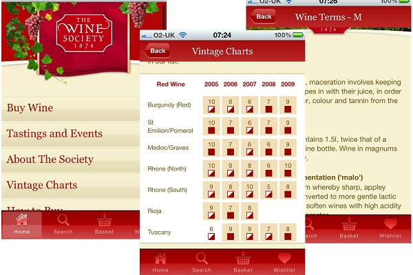 The Wine Society app