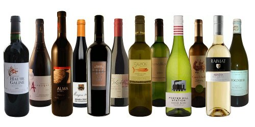 The wines from the Wine Bloggers' Case