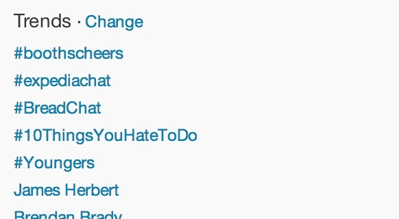 Hash tag BoothsCheers trending alongside the death of James Herbert