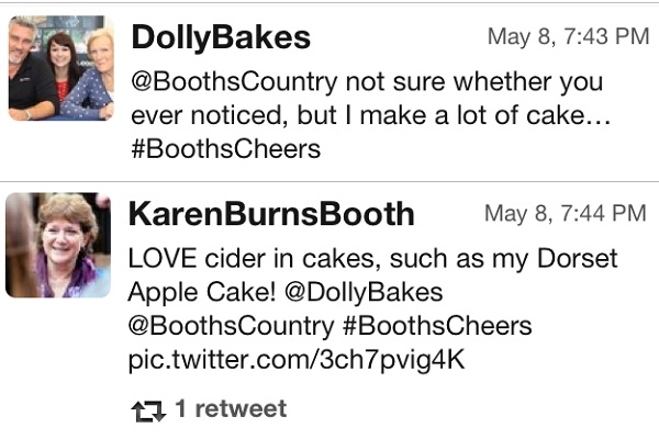 Tweets around #BoothsCheers
