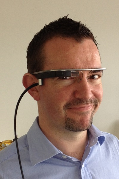 Google Glass being worn by Bigpinots