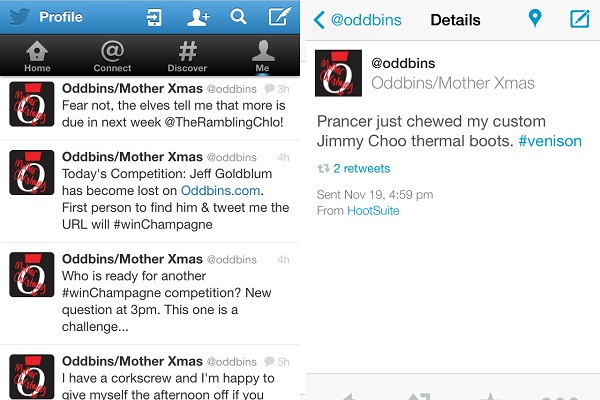 Oddbins' Twitter account hijacked